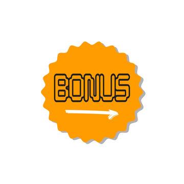 Bonus circular star icon isolated sticker badge