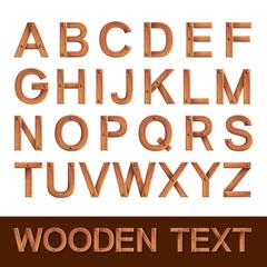Wooden alphabet isolated