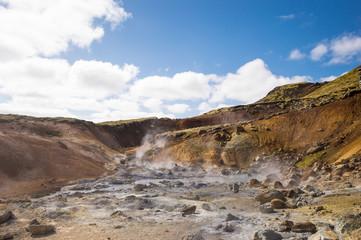 Geothermal area Krysuvik (Reykjavik, Iceland), hot springs of Iceland