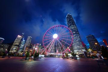 Foto En Lienzo - Observation Wheel, Hong Kong