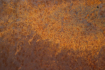 Off surface steel plate a Old and dirty Striped Background Yellow rust