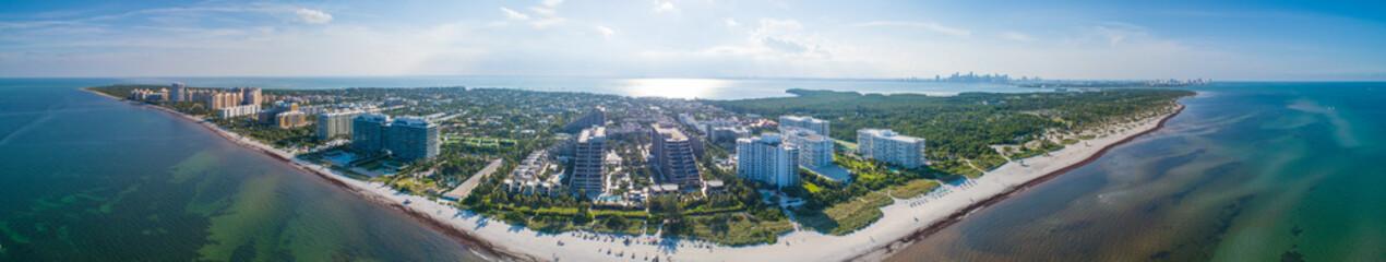 Aerial panorama Key Biscayne Florida