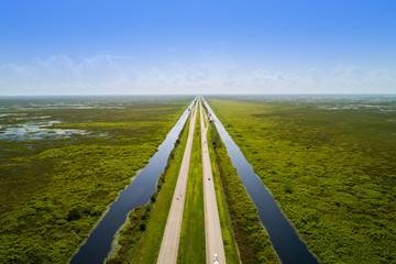 Aerial Florida Everglades Alligator Alley