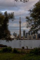 Dusk view at Toronto skyline