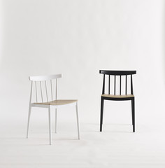 design dinning chairs isolated on white. minimalism design furniture.