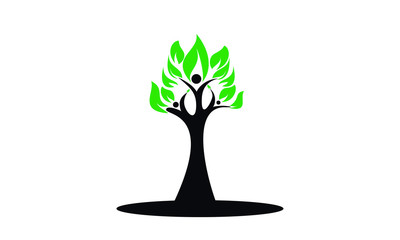 Community & Tree Vector