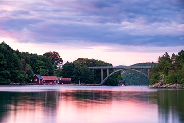 Sunset Lyngdal Norway