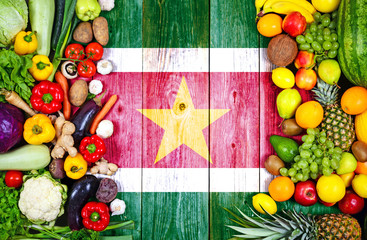 Fresh fruits and vegetables from Suriname