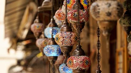 Handmade lamps on a Bazaar in Mostar, Bosnia and Herzegovina.