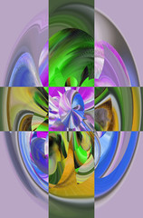 Attractive abstraction and design. Graphic arts and art