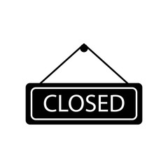 Closed icon vector icon. Simple element illustration. Closed symbol design. Can be used for web and mobile.