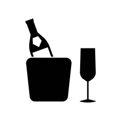 Champagne icon vector icon. Simple element illustration. Champagne symbol design. Can be used for web and mobile.