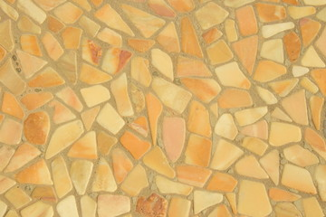 Mosaik In Orange Und Beige, Hintergrund