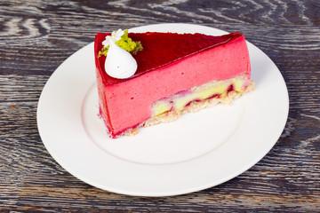 Tasty rasberry mousse