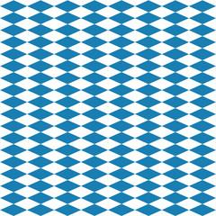 Nahtloses Rautenmuster in blau weiß für das Oktoberfest. Vektor Datei eps10