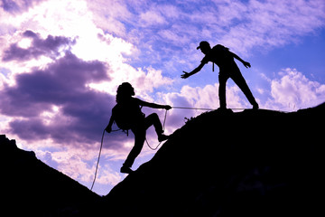mountaineering assistance, sporty climbing and awareness