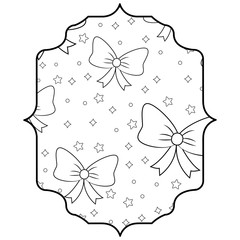 Decorative bows and stars pattern