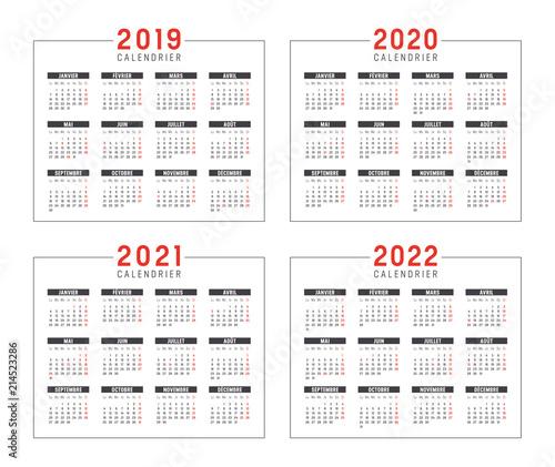 Calendrier Pro A 2020 2019.Calendrier Agenda 2019 2020 2021 2022 Stock Image And