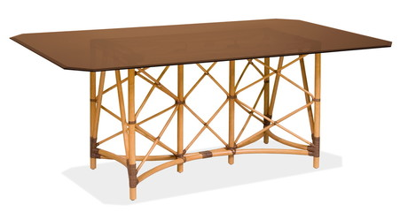 rattan table with a table-top