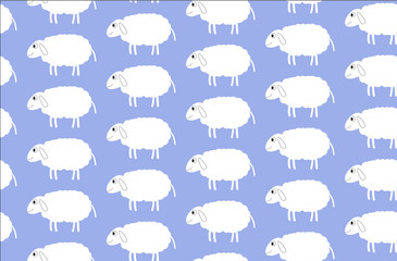 sheep, animal, background, pattern,