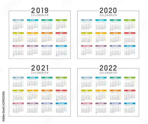Calendrier 2020 2021.Calendrier Agenda 2019 2020 2021 2022 Stock Image And