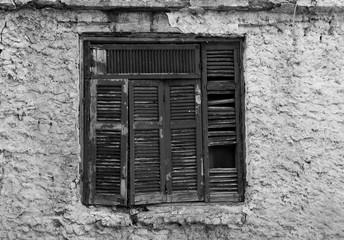Vintage Wooden Window  - Black & White