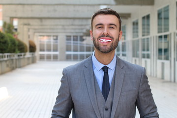 Businessman with really bad teeth