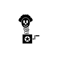 clown in box icon. Element of joke dat icon. Premium quality graphic design icon. Signs and symbols collection icon for websites, web design, mobile app
