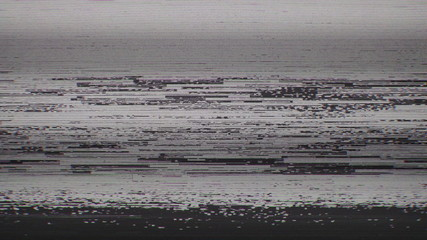 Unique design abstract television screen digital pixel snow noise caused by bad signal reception glitch error video damage