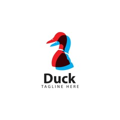 Duck Logo Vector Template Design Illustration