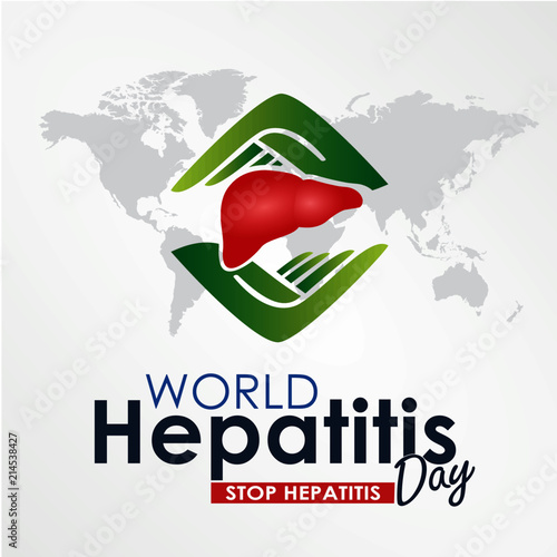 world hepatitis day design template vector suitable for greeting card poster and banner world