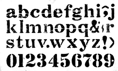 stencil ink alphabet