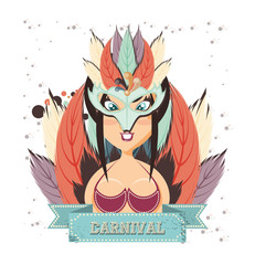 beautiful woman carnival character