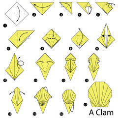 Step By Instructions How To Make Origami A Clam