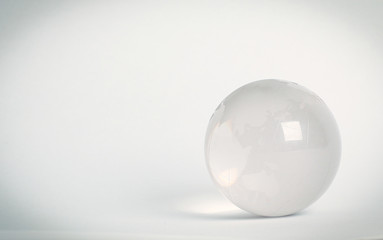 small glass globe.isolated on a white background.