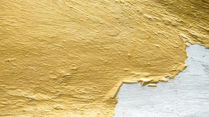 gold concreate crack background or texture