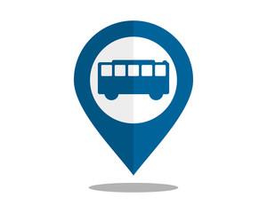 bus marker pin path image vector icon logo