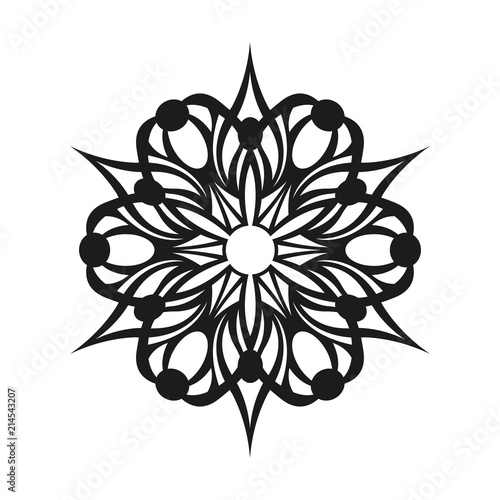 Abstract Simple Tribal Sign Graphic Tattoo Design Stock Image And