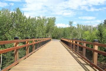 On The Bridge, Mill Creek Ravine Park, Edmonton, Alberta