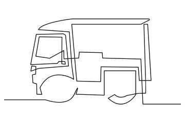 continuous line drawing of car
