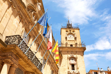 Clock tower in Aix-en-Provence, France