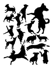 Silhouette of dogs. Good use for symbol, logo, web icon, mascot, sign, or any design you want.