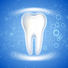 Dental care Tooth Icon. Graphic concept for your design