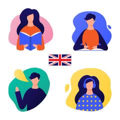 Learn English vector illustration