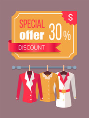 Special Offer Label Discount Tag 30 with Jackets