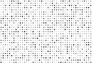Vector background of many shade of gray circles of random size and random color