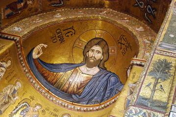 Duomo di Monreale (Palermo) - Il mosaico del Cristo Pantocratore nell'abside