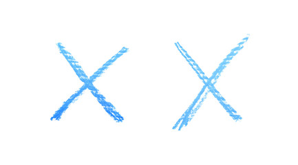 Hand drawn X mark isolated