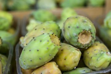 Cactus fruit in market
