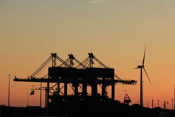 An industrial sunset